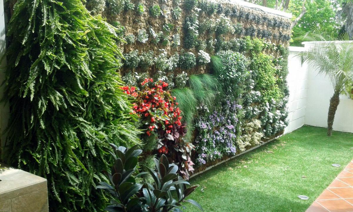 Un ejemplo de jardín vertical